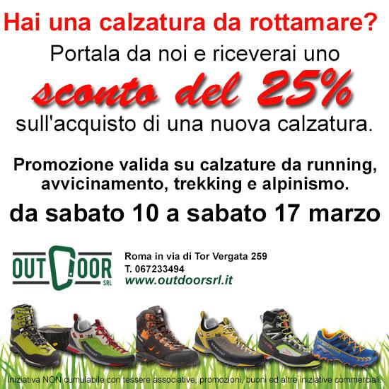 Rottamazione calzature da trekking, alpinismo e running