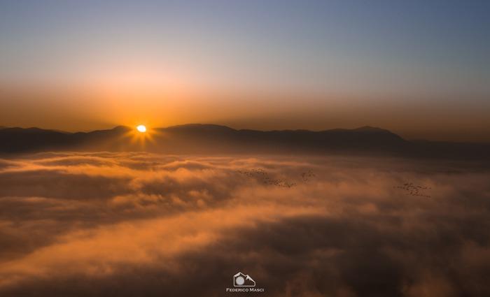 Sul Monte Viglio all'Alba