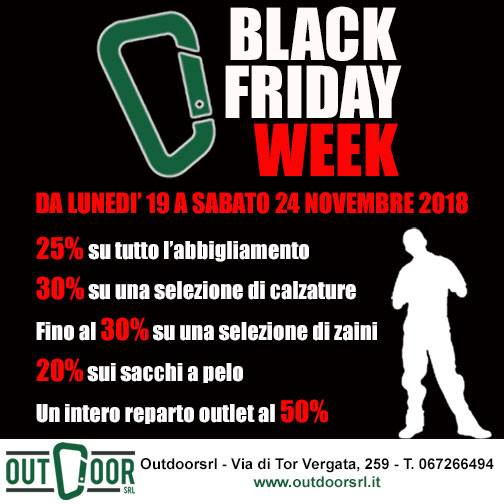 Black Friday Week! dal 19 a 24 novembre