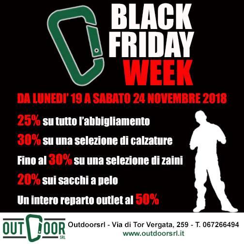 Black Friday Week! dal 19 a 24 novembre