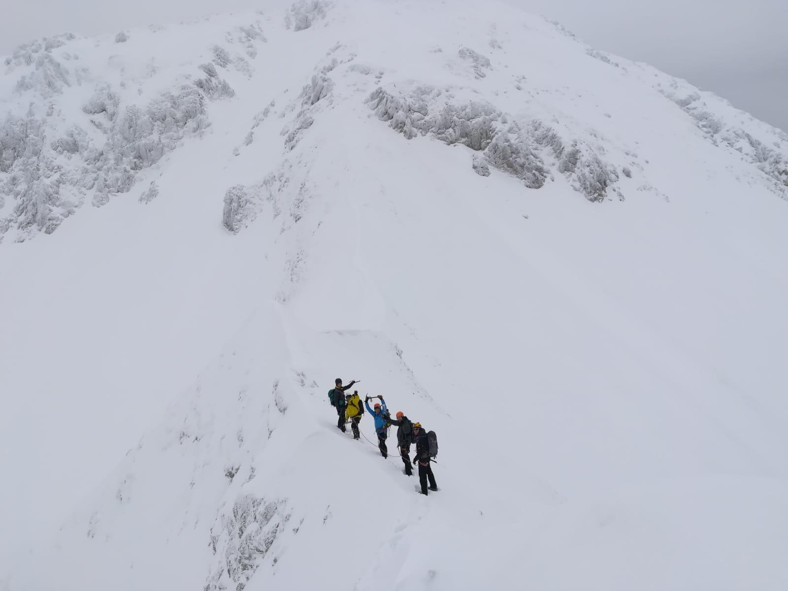 alpinisti su terminillo