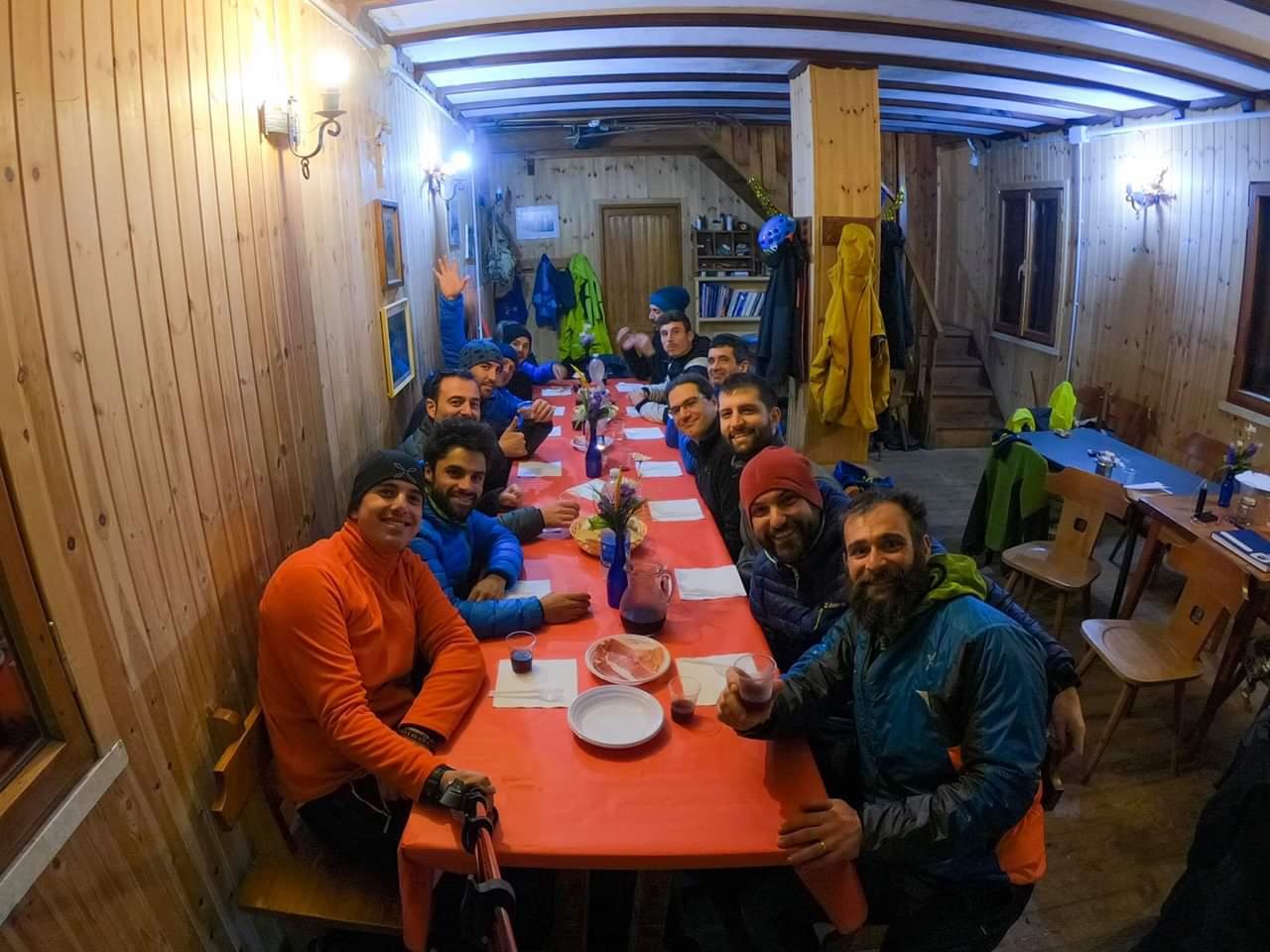 rifugio dopo giornata alpinismo