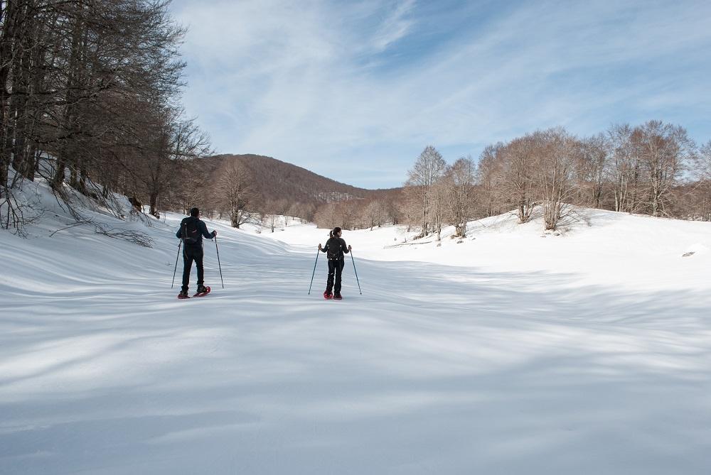 Campo Staffi con la neve per una ciaspolata